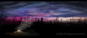 Sunset in village by Lailie-Dragon-Lovard