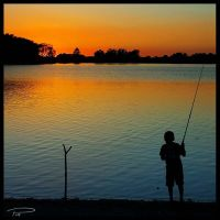 Boy Fishing by Photo-Cap