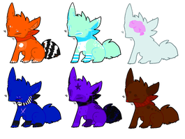 Fox Adoptables Auction (CLOSED) by DetritusDroid