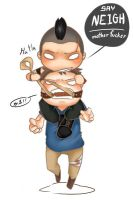Chibi Vaas and his pony by bloodykiller333