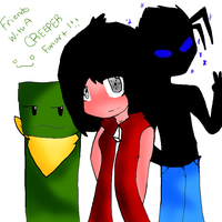 Friends With A Creeper Fanart by TheJokersCards