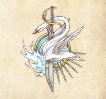 Golden Swan Clan Logo by Neekou
