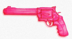 Watergun Pink by paperbeatsscissors