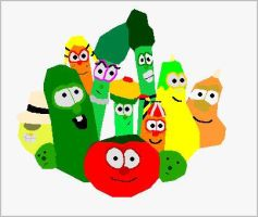 VeggieTales Classics Group Minimal Vector by EspioArtwork