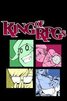 King of RPGs - T shirt Design by Xenogia