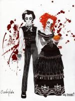 Sweeney Todd n Mrs Lovett by ElsaVonNarbe
