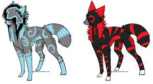Wolf Adoptables by nimeare