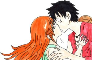 Luffy x Nami -  Come and kiss me! by IshidaYuki