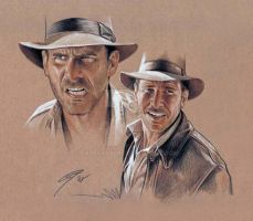 Indiana Jones - expressions by GabeFarber
