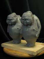 Tweedle Dee and Dum WIP by Blairsculpture