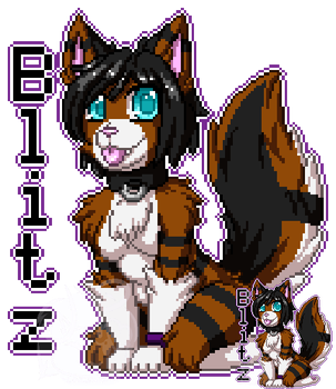Pixel Badge: Blitz by LovelessKia