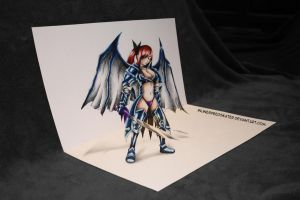 Erza The Titania - 3D Art! by InlineSpeedSkater