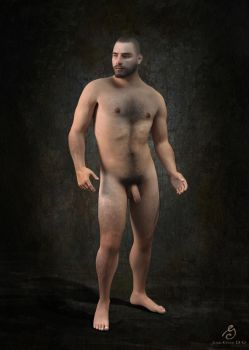 Standing Academic Nude by JOSEGEE12