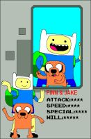 Pixel Fighter - Finn and Jake by ian2x4
