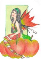 Apple Fairy by blue-willow by Realm-of-Fantasy