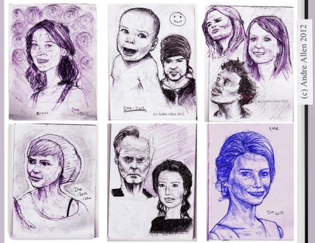 pen portraits. by PoetryMan1