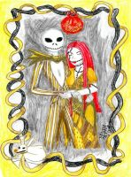Jack and Sally in Gold by IsisConstantine