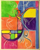 Colorful, Abstract Acrylics by Fragment-City
