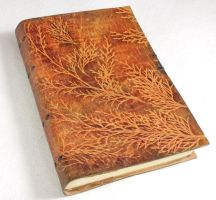 Large Thuja Leather Journal by gildbookbinders