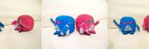 Blue and Red Space Marine Cube Plushies by JeffSproul