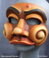 Arlecchino Commedia Mask by Alyssa-Ravenwood