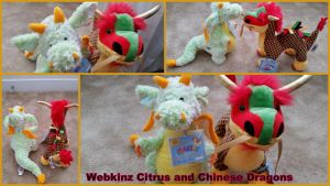 Webkinz Citrus and Chinese Dragon by Vesperwolfy87