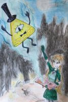 Selina Summons Bill Cipher by TheGoldenAquarius