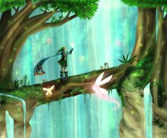 Hyrule Warriors Link - Forest of Fairies by TheHummingInker