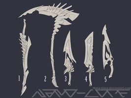 Lineart Weapon Adopts 1 (closed) by Nano-Core