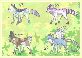 .: Mixed Adoptables :. by The-F0X