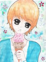 Kris eating Icecream~x3 by taeminlover94