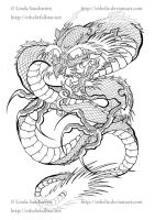 Chinese dragon by Ethelie