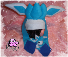 Glaceon hat by PinkuArt