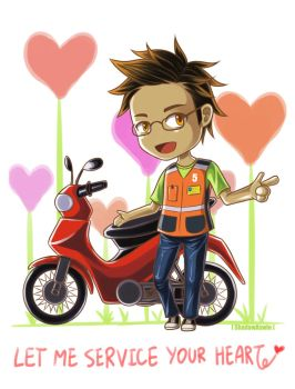 Hetalia APH : Moto Taxi by youngthong-art