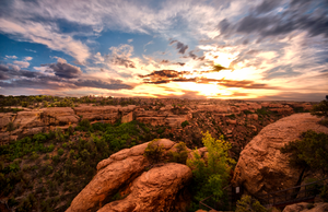 Mesa Verde Sunset by Bawwomick