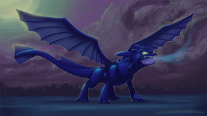 Night Fury by squire-boot
