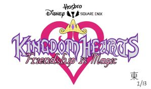 Kingdom Hearts: Friendship is Magic Full Logo by JazzyTyfighter