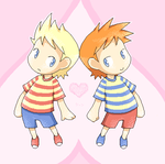 Mother 3: Lucas + Claus by stardroidjean