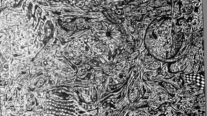 2 Pen Abstract by delsando