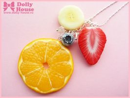 Summer Time fruit Necklace by Dolly House by SweetDollyHouse