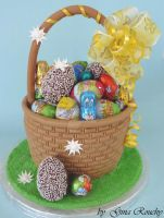 Egg Basket Cake by ginas-cakes