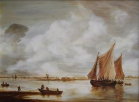Dan Scurtu - Seascape after Jan Van Goyen by DanScurtu