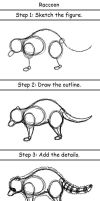Raccoon by drawing3steps