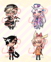Adoptables set 2 Sold Out by XakiNyota