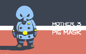 Pig Mask wallpaper - Mother 3 by voln
