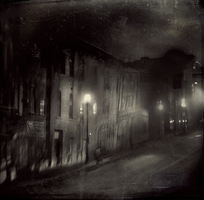 Dark Night in Old Town by intao