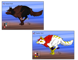Running Wolf Adopts - Free - Gone by Feralx1