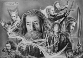 The Hobbit drawing by kansineedegraefart