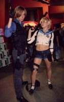 Leon S. Kennedy and Sherry Birkin from RE6 by Akiba91
