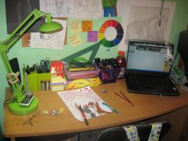 My Work space by Belly-Button-Monster